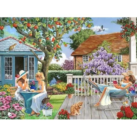 Elmas Boyama - Bahçedeki Üç Kadın 30x40 Cm