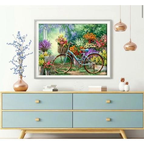 Elmas Boyama  - Bisiklet 30x40 Cm