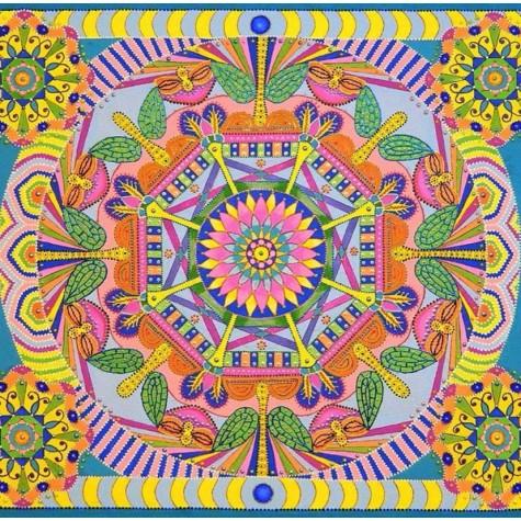 Elmas Boyama - Renkli Mandala 30x30cm