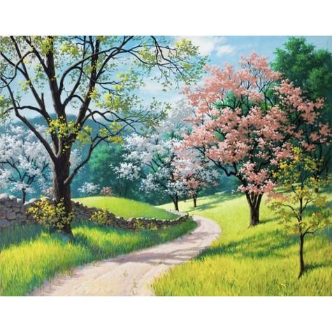 Numaralı Boyama İlkbahar- Kasnaksız Sayılarla Boyama Seti 40x50cm