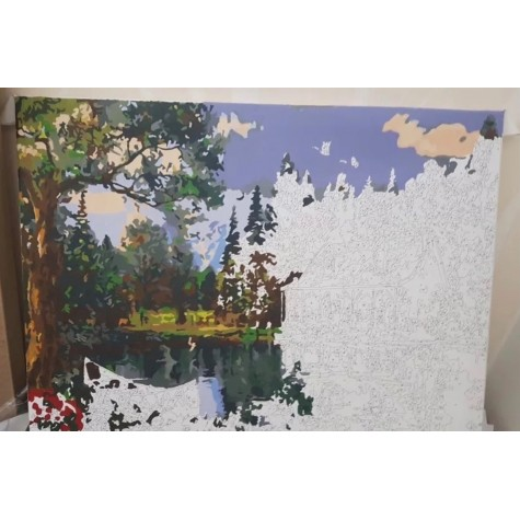 Numaralı Boyama Yavruağzı Balerin- Kasnaksız Sayılarla Boyama Seti 40x50cm