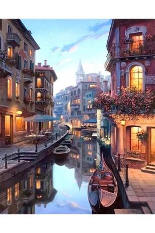 Numaralı Boyama Venedik Kanalı- Kasnaksız Sayılarla Boyama Seti 40x50cm